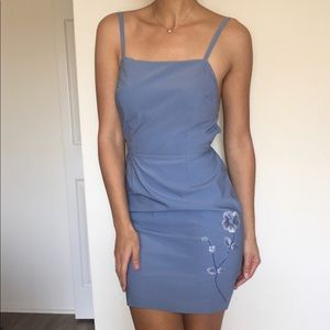 Cute blue mini dress